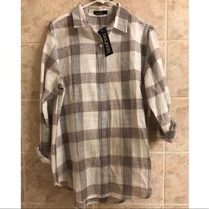 Oversized button down from boohoo